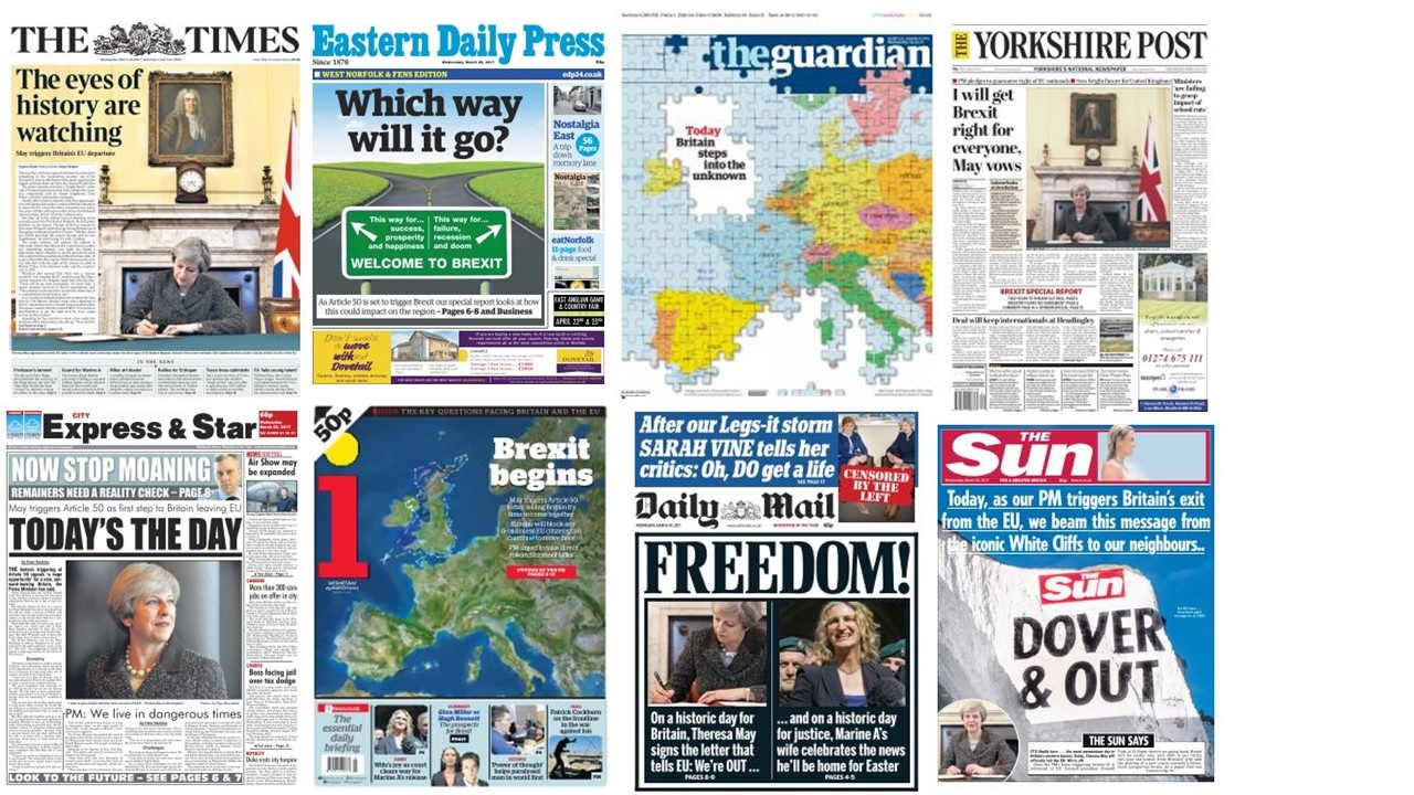 How Newspapers Covered Triggering Of Article 50